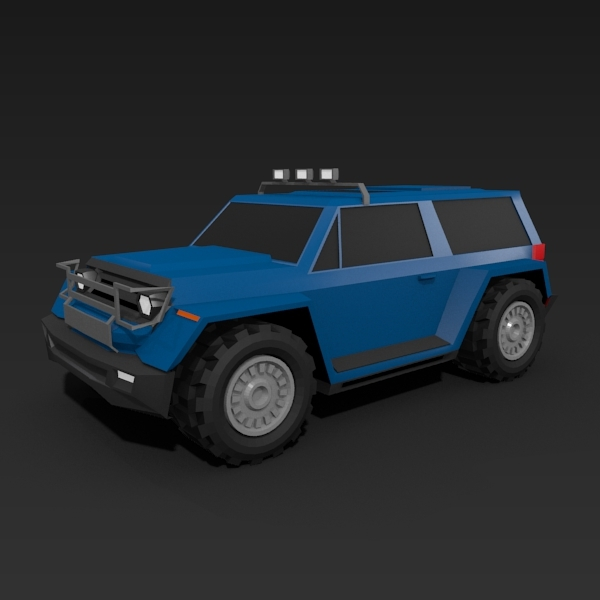 Lowpoly terrain vehicle - 3DOcean Item for Sale