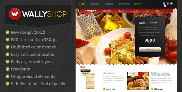 WallyShop eCommerce HTML Template