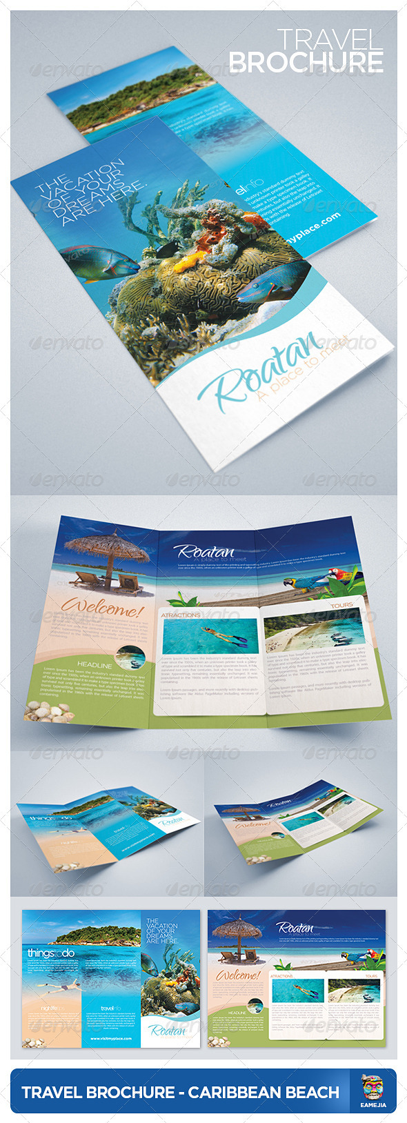 GraphicRiver Travel and Tourism Brochure Caribbean Beach 2442805