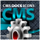 Unique CMS (Content Management System) Dock Icons - GraphicRiver Item for Sale
