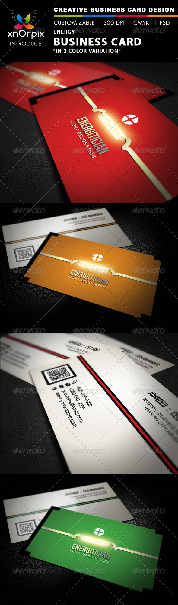 Energy Business Card - Corporate Business Cards