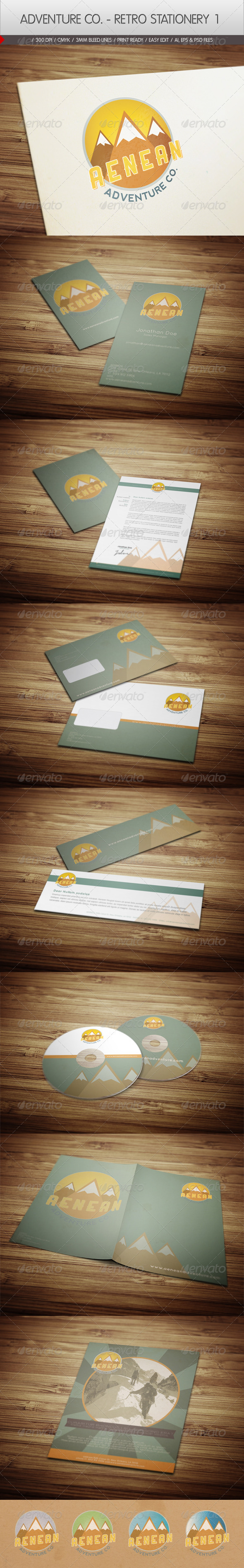GraphicRiver Adventure Co Retro Stationery 1 2446453