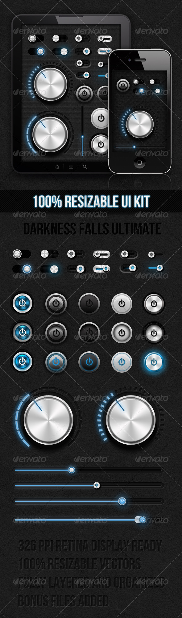 GraphicRiver Dark Ui Kit Darkness Falls Ultimate 2446720