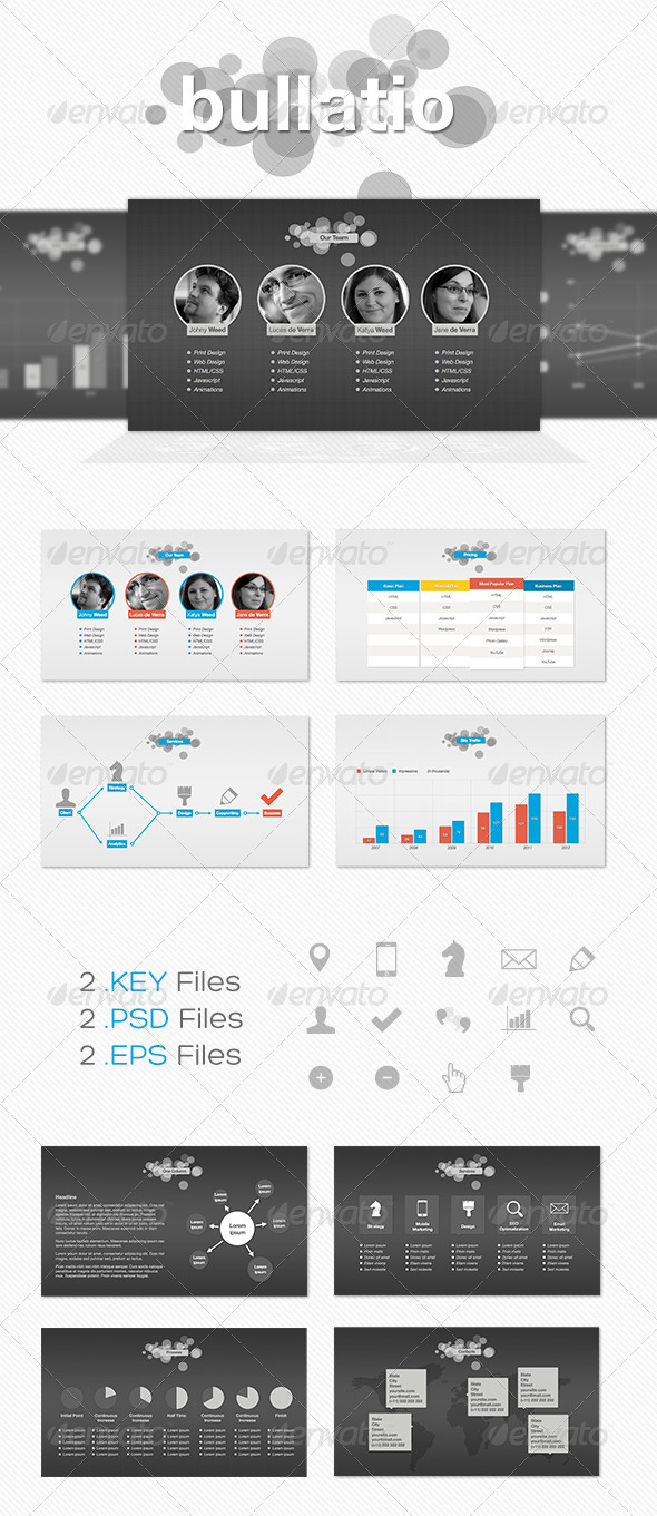 Bullatio – Keynote Presentation Template - Creative Keynote Templates