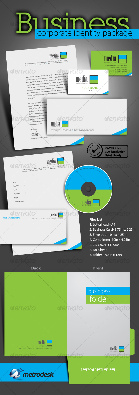 GraphicRiver High quality print ready corporate identity 7 pack 89673