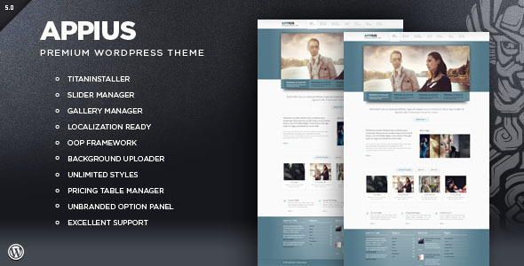 ThemeForest Appius Premium WordPress Portfolio Theme 1358083