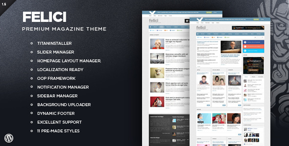 ThemeForest Felici WordPress Magazine Theme 1519835
