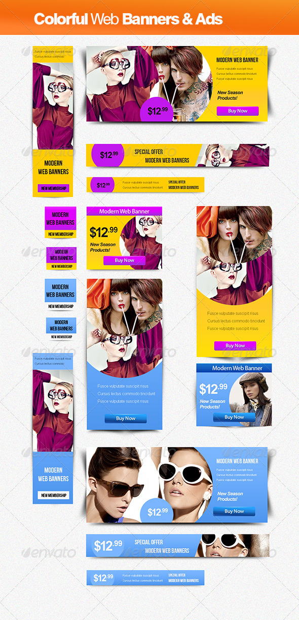 Colorful Banner & Ads - Banners & Ads Web Elements