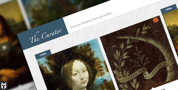 The Curator: Premier WP Timeline Theme for Artists - Art Creative