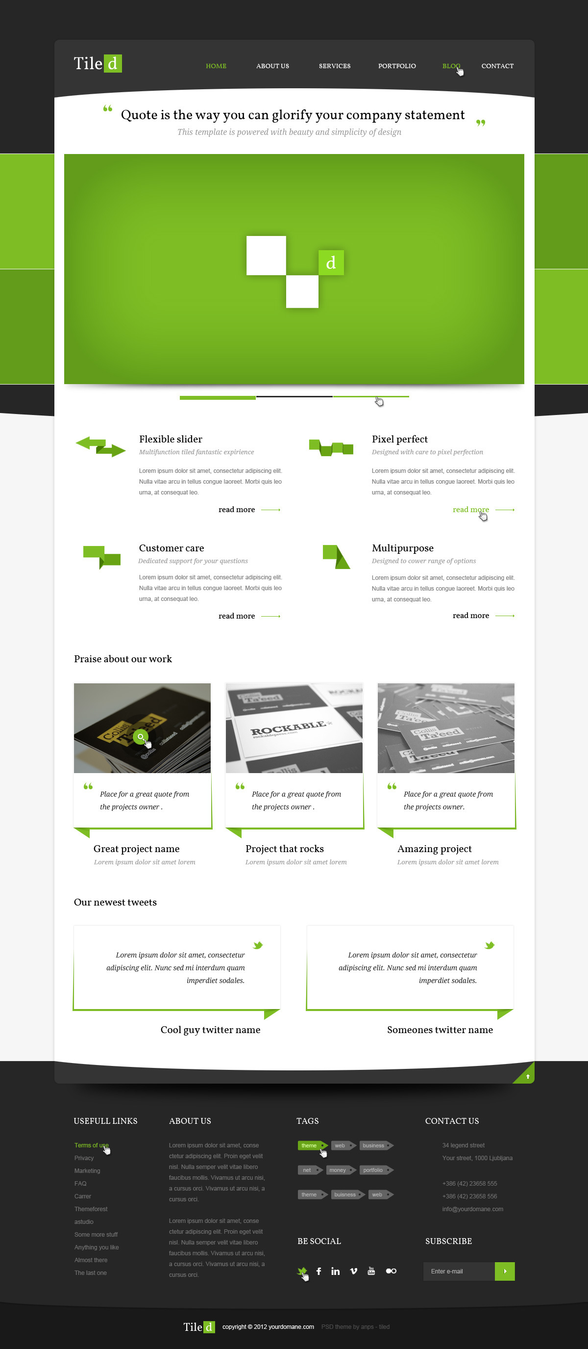Tiled - Multipurpose PSD Theme