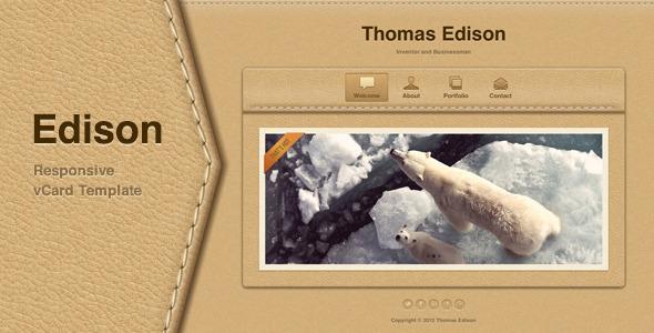 Edison - Responsive vCard Template