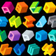 Multicolored 3D Letters - GraphicRiver Item for Sale