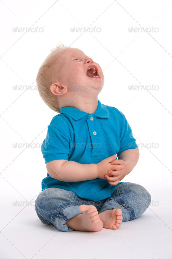 Stock Photo - PhotoDune Sad toddler boy is crying very loud 2452705