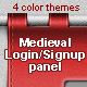 Hanging Medieval Login/Signup Panel! - GraphicRiver Item for Sale