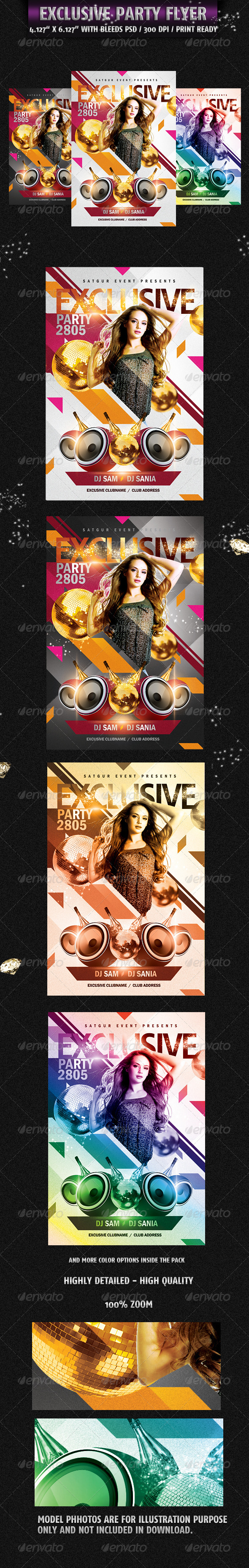 Exclusive Party Flyer - Flyers Print Templates