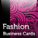 Stunning Fashion business cards in 4 colors - GraphicRiver Item for Sale