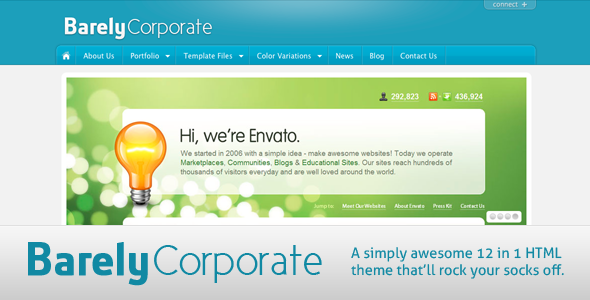 Barely Corporate HTML Theme - 12 in 1