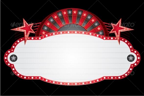 GraphicRiver Roulette neon 89819