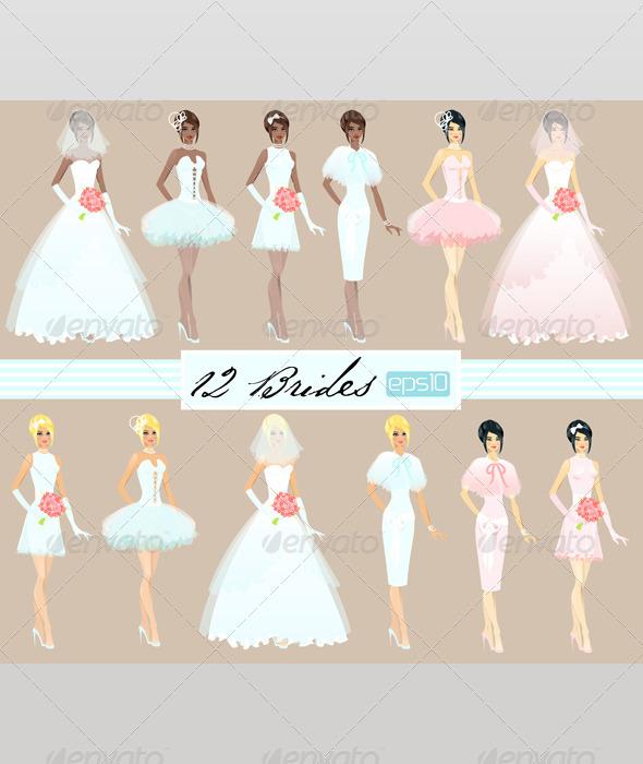 GraphicRiver Twelve Brides 2452343
