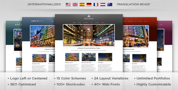 Arcadia - WordPress Theme - Business Corporate