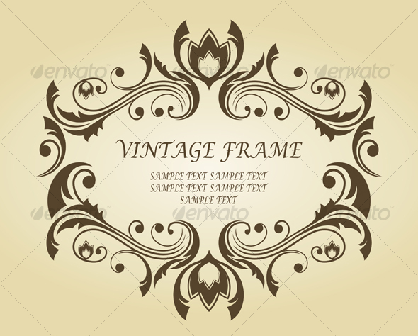 Vintage frame for ornate - Flourishes / Swirls Decorative