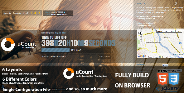 uCount - Under Construction / Coming Soon Template