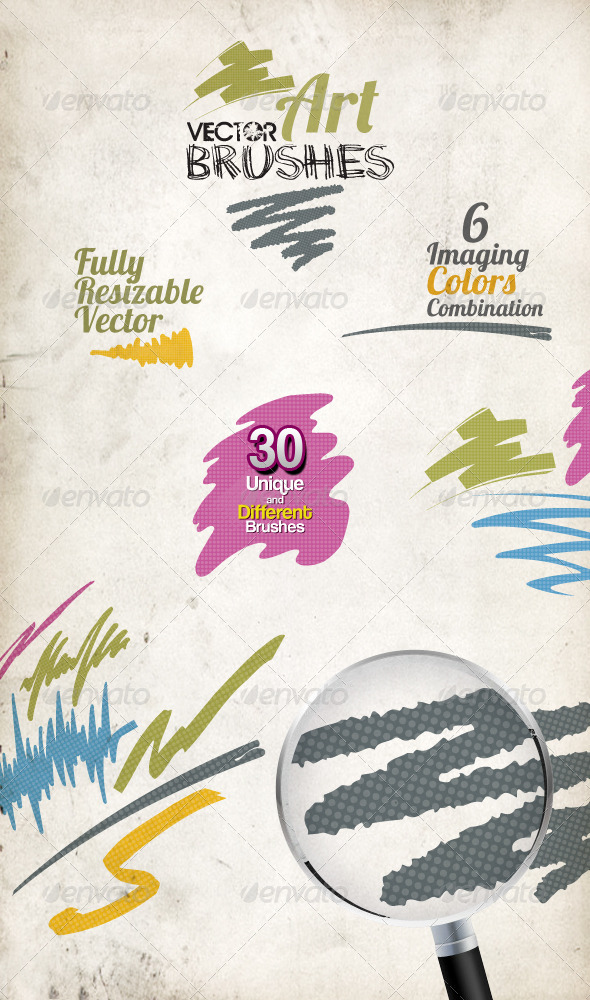 GraphicRiver 30 Vector Art Brushes 2453163