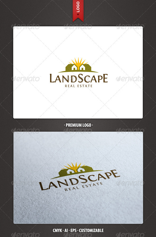 Landscape - Real Estate Logo Template - Buildings Logo Templates