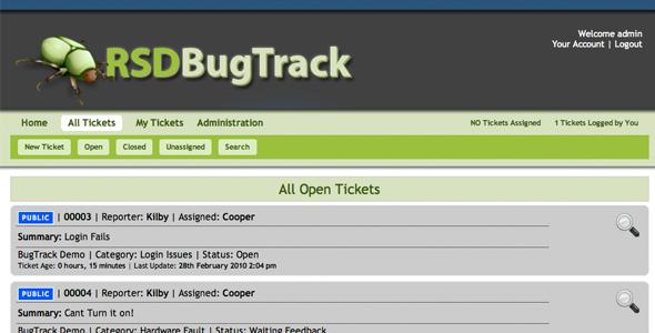 CodeCanyon RSD Bugtrack 89893