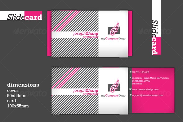 Slide Card - Creative Business Cards