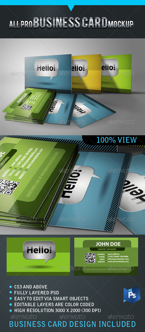 All Pro Business Card Mockup