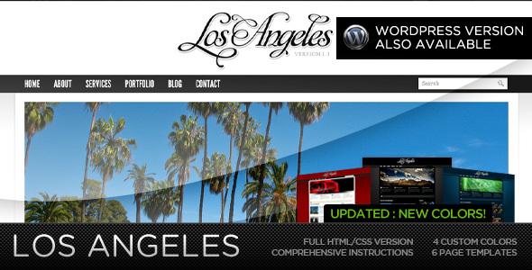 ThemeForest Los Angeles Premium Portfolio Template 89925