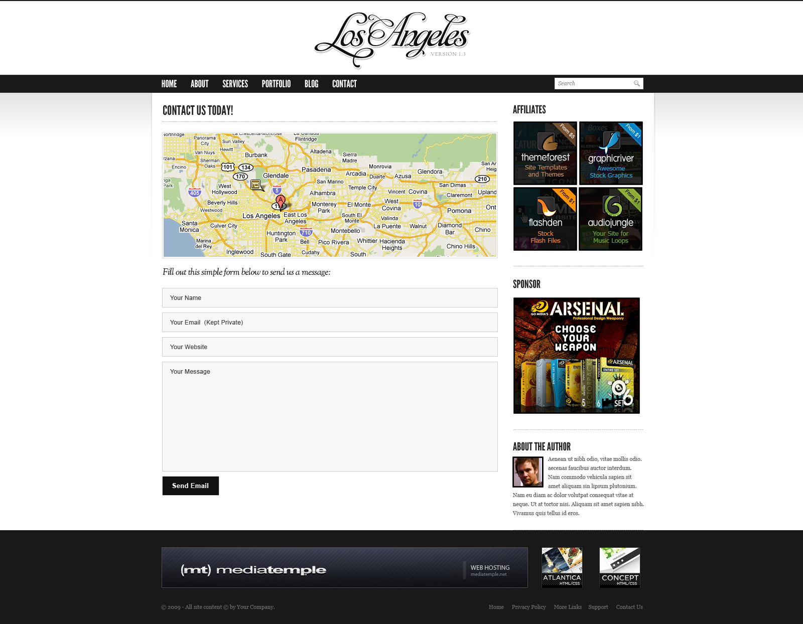 Los Angeles - Premium Portfolio Template