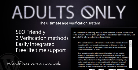 CodeCanyon Adults Only Age Verification System 2455390