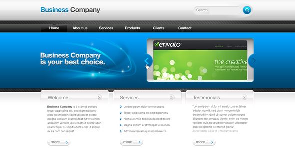 ThemeForest Business Template #02 89343