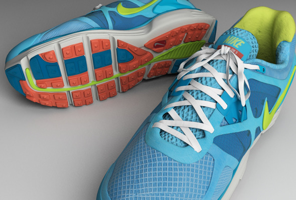 Colorful Running Shoes - 3DOcean Item for Sale