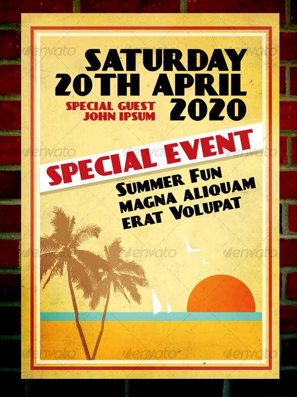 Retro Flyer A4 - Clubs & Parties Events