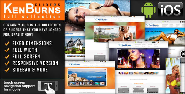 CodeCanyon jquery Slider Ken Burns Effect Fully Responsive 2457203