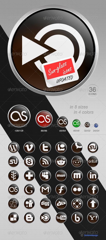 GraphicRiver Sunglass Social Media Icons 137988