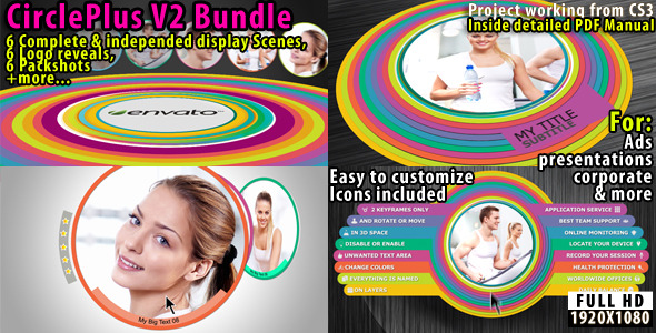 After Effects Project - VideoHive Circle Plus V2 Corporate Bundle 2418114