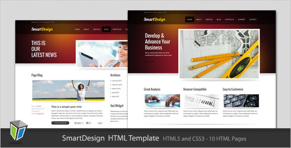 SmartDesign - Modern Corporate HTML Template