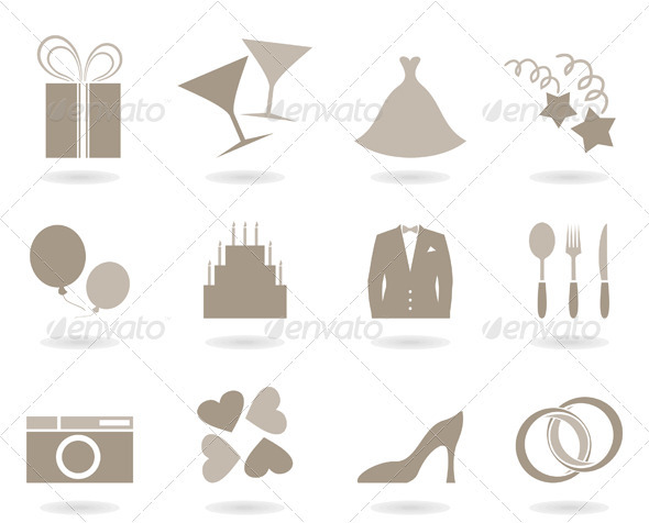 GraphicRiver Wedding icon 2458176