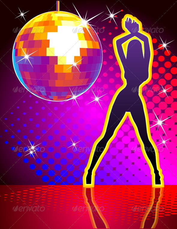 Disco party background graphicriver for 1234 lets on the dance floor