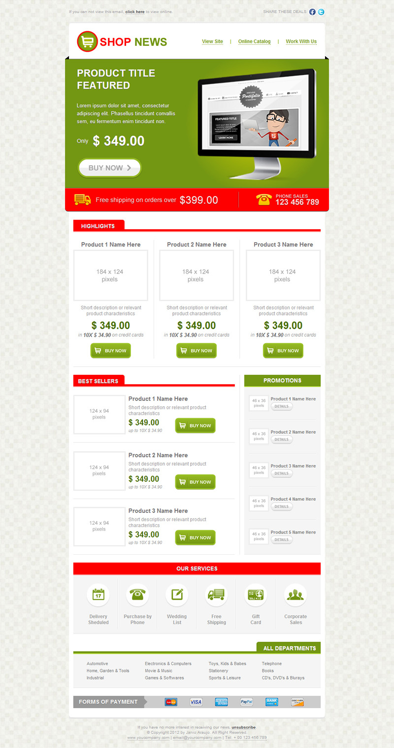 Shop News Email Template