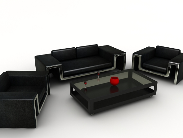Living Room Set - 3DOcean Item for Sale