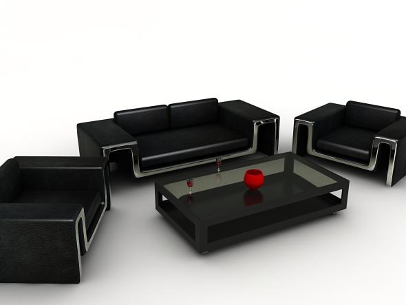 3D Models - Living Room Set | 3DOcean