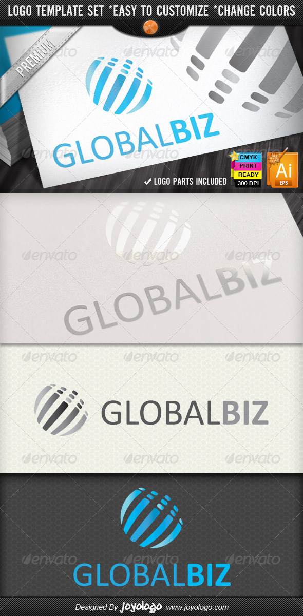 Modern Business Abstract Global Logo Design