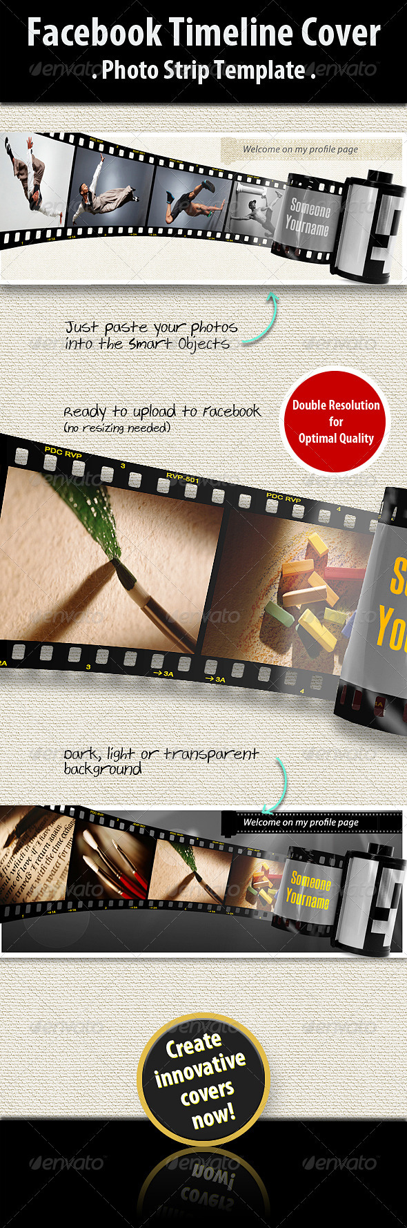 GraphicRiver Facebook Timeline Cover Photo Strip 2431120