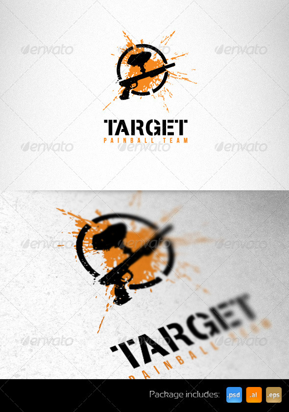 GraphicRiver Target Painball Team Creative Logo Template 2459153