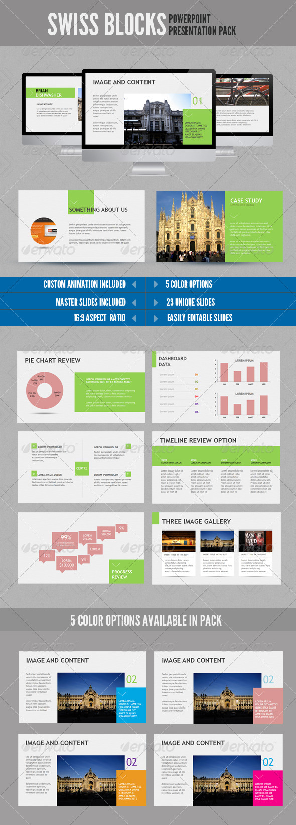 GraphicRiver Swiss Block Powerpoint 2439989